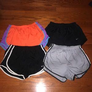 Lot of 4 Nike dri-fit shorts logo medium